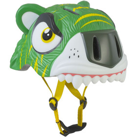 Crazy Safety Tiger Helmet Kids green